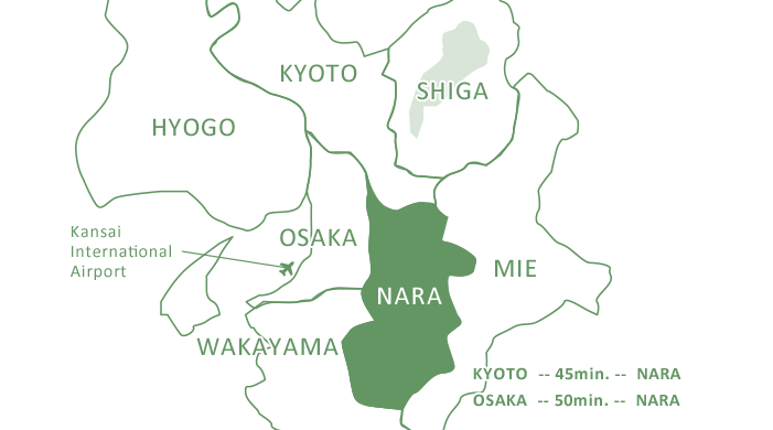 Enlarged map of NARA area